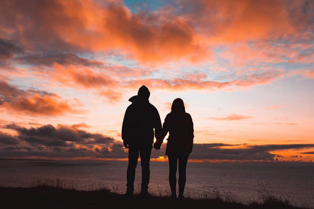 couple sunset